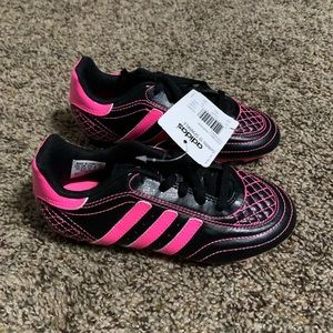 New adidas black pink 13 soccer cleats